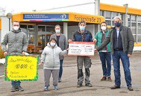 HEBER Fördertechnik spendet 10 000 Euro für den Heggbacher Werkstattverbund
