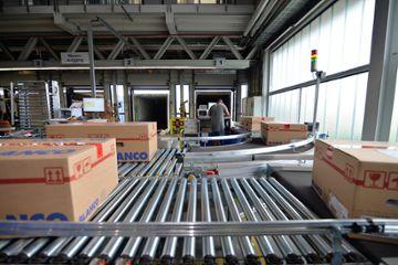 HEBER Fördertechnik, Rollenförderer Warenausgangsbereich